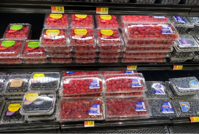 Raspberries in season