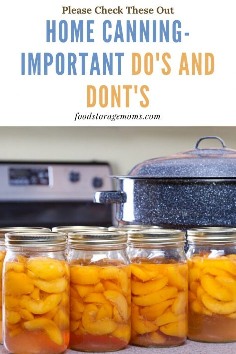 Home Canning-Important Do's and Don'ts