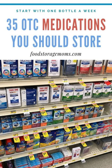 35 OTC Medications You Should Store