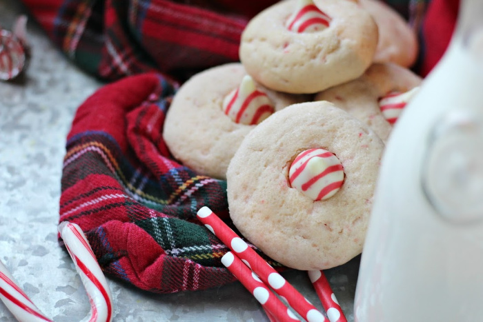 Candy Cane Kiss Sugar Cookies Recipe