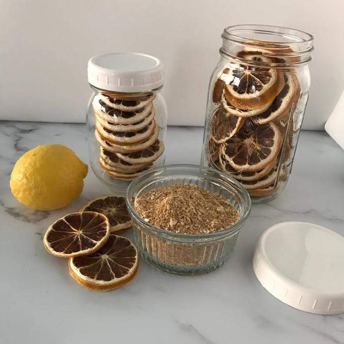 Lemons dehydrated and lemon powder