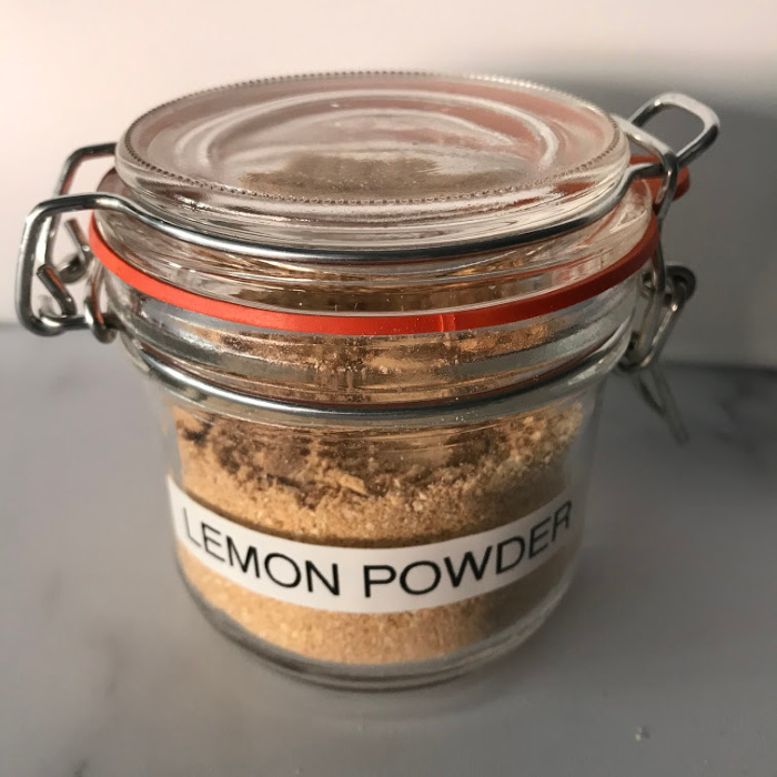 Storing Lemon Powder