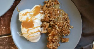 Caramel Apple Crisp With Homemade Caramel Sauce