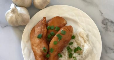 Honey Baked Chicken Tenderloin On A Plate