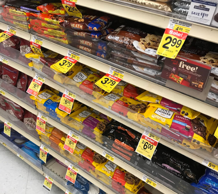 Baking choclate is a great item to stock up on