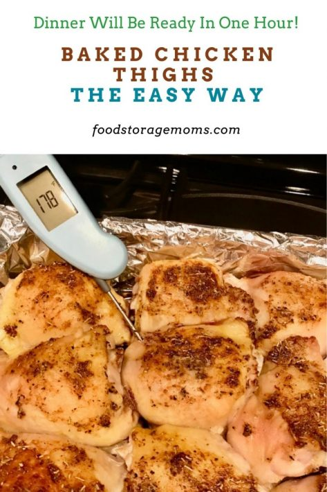 Baked Chicken Thighs The Easy Way