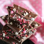 Chocolate Bark Chunks On Pink Napkin