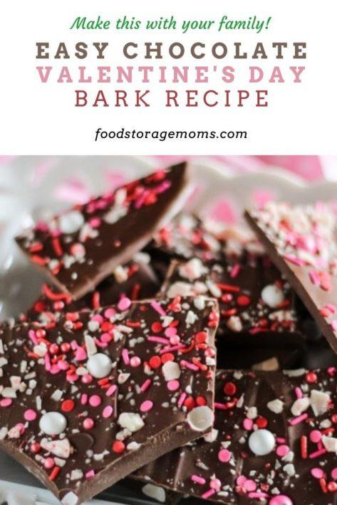 Easy Chocolate Valentine's Day Bark Recipe