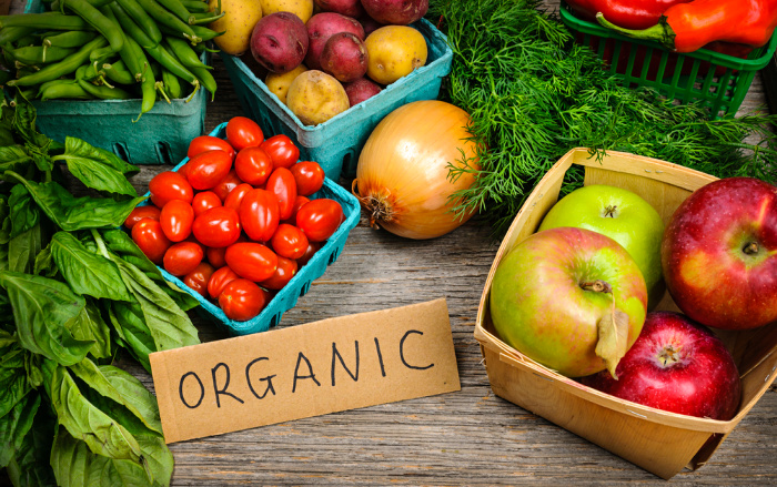 Organic Food On A Table