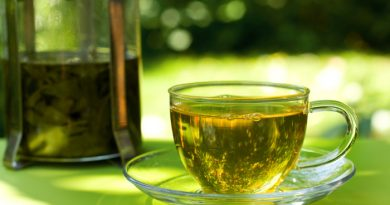 Green Tea Steeping in a cup ready to drink