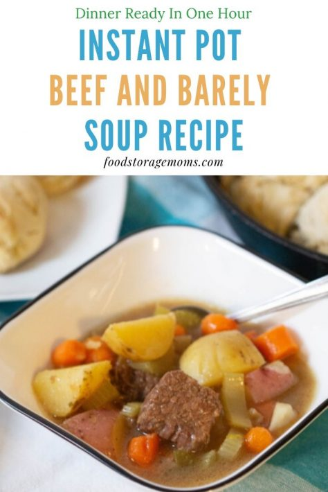 Instant Pot® Beef and Barley Soup Recipe