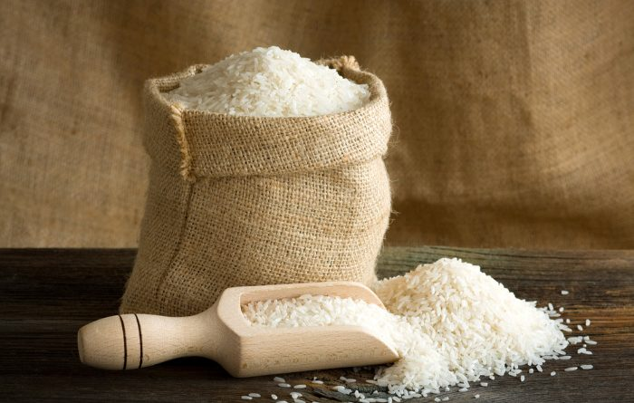 Rice Uncooked In A Bag