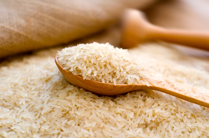 Rice on a table