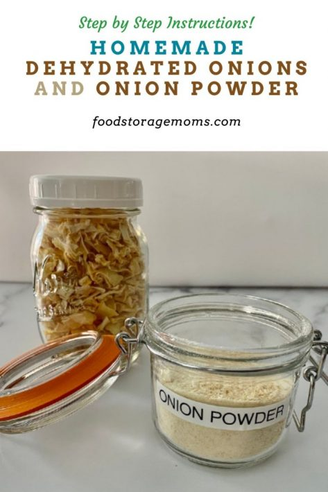 Homemade Dehydrated Onions and Onion Powder