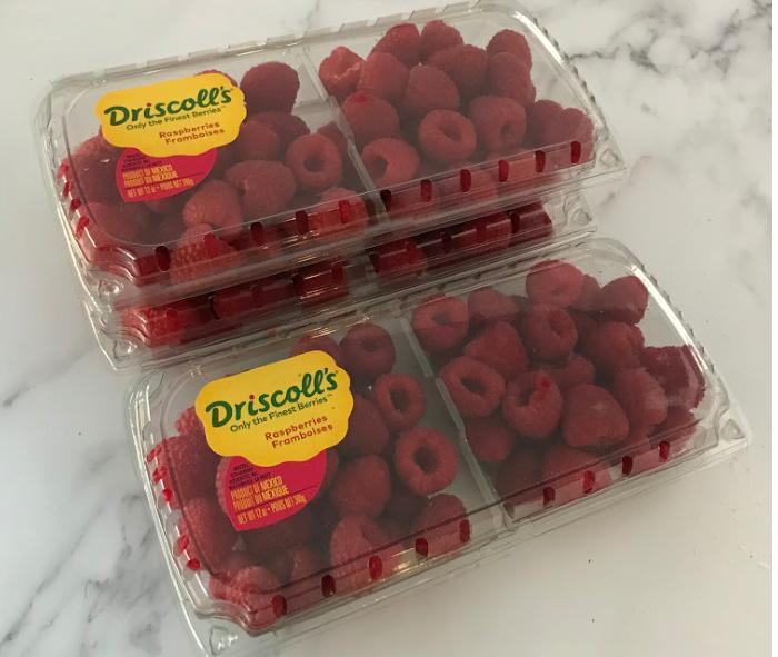 Fresh raspberries from the store