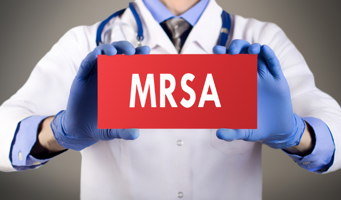 MRSA Red Sign
