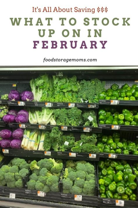 What To Stock Up On In February