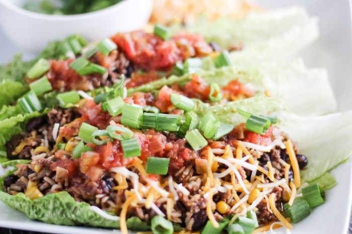 Instant Pot Beef and Bean Taco Bowls
