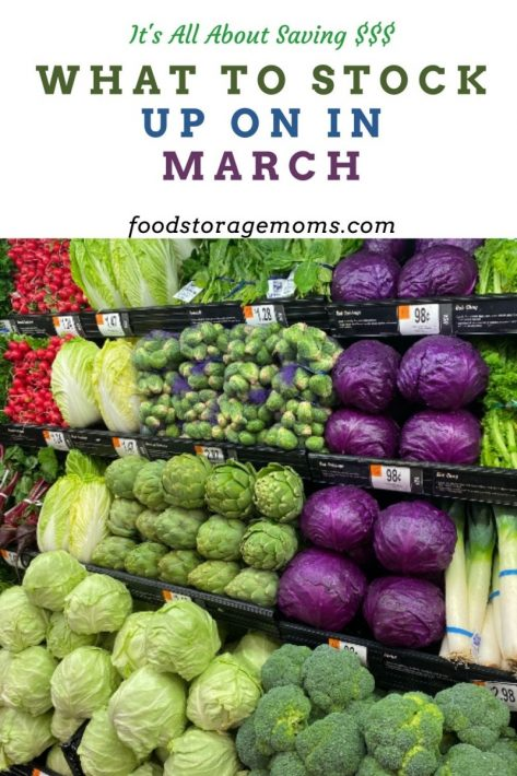 What To Stock Up On In March