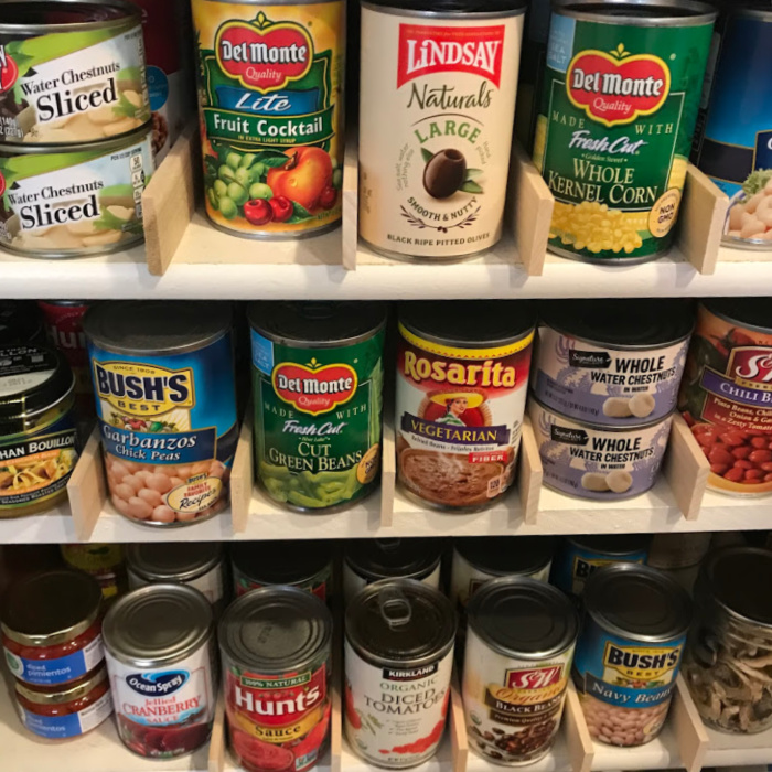 Cans of Food Storage