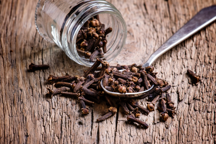 Cloves in a jar