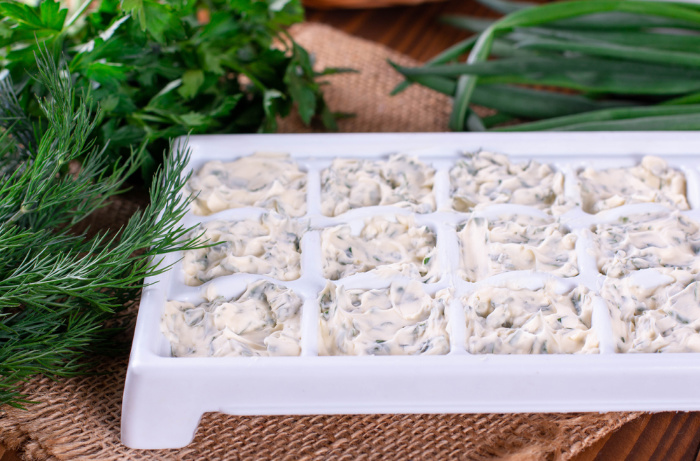 Freeze Herbs In Butter