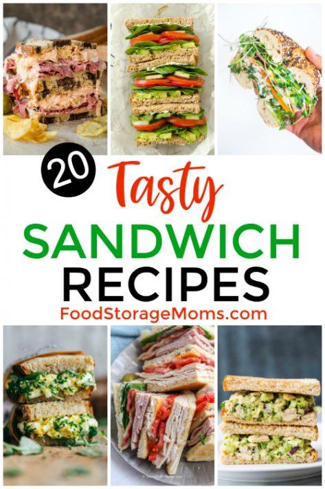 20 Tasty Sandwich Recipes