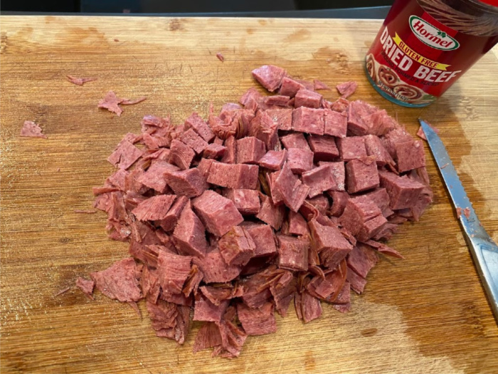 Cream Chipped Beef: Step By Step Pictures