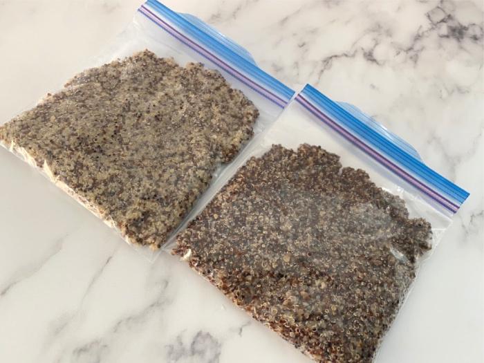 Freezing Quinoa in Bags