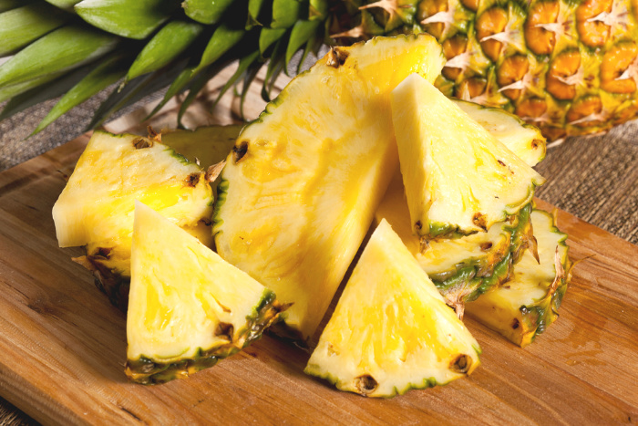 Fresh Pineapple on a Platter