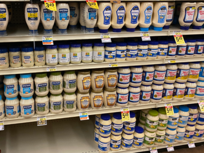 Mayonnaise on Shelves