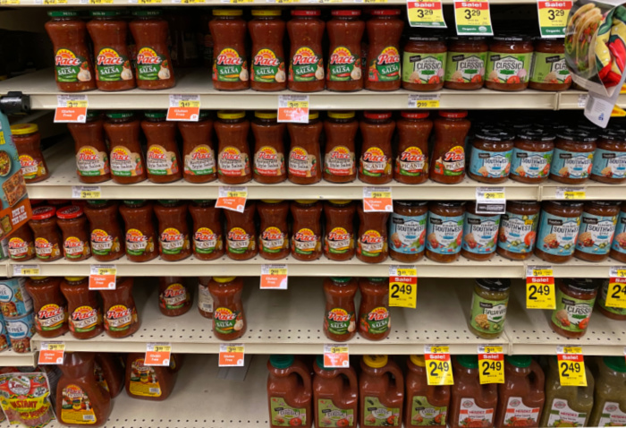 Salsa on Grocery Shelf