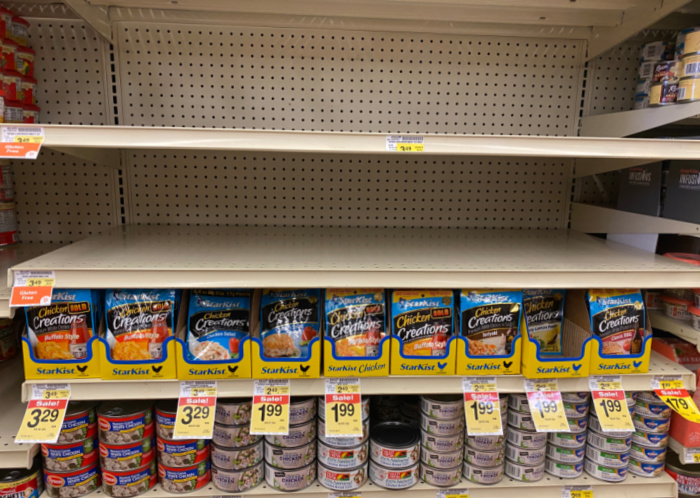 SPAM is missing on the Shelves
