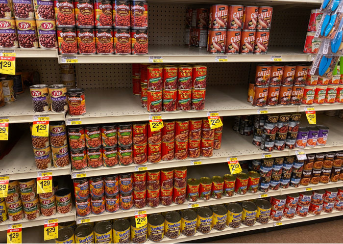 Beans Pretty Scarce On Shelves