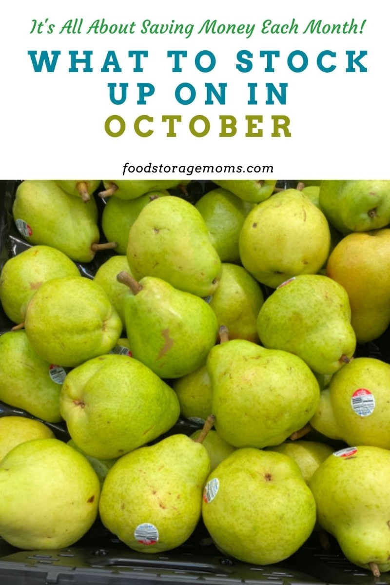 What To Stock Up On In October