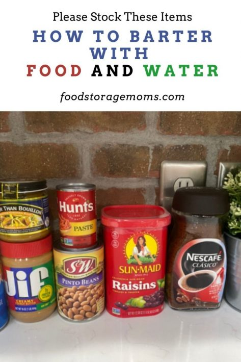 How to Barter with Food and Water