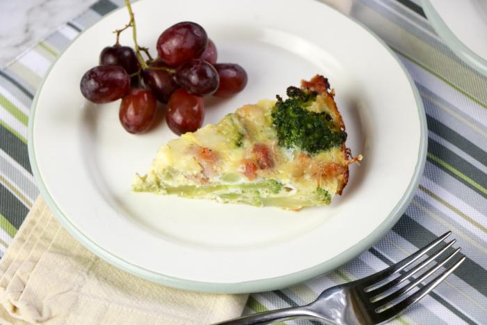 Ham and Cheese Crustless Quiche Recipe