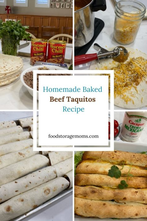 Homemade Baked Beef Taquitos Recipe