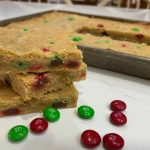 The Very Best M & M Cookie Bar Recipe