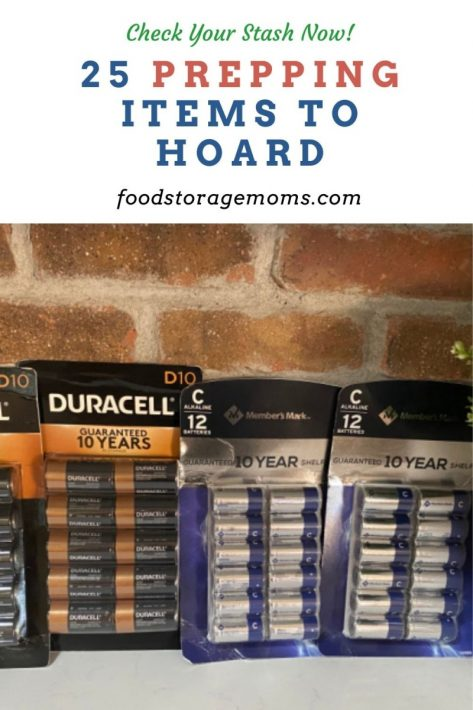 25 Prepping Items to Hoard