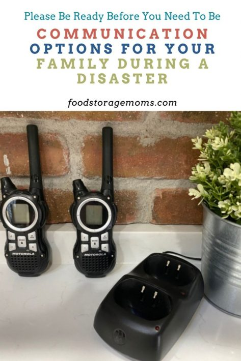 Communication Options for Your Family During a Disaster