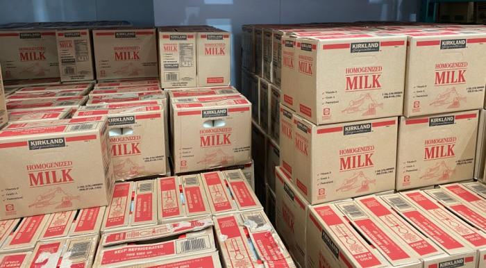 Milk at Costco