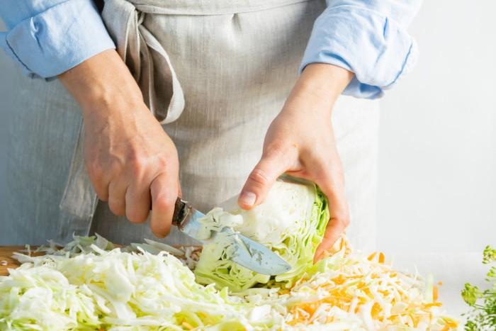 Shredding Sauerkraut and Carrots