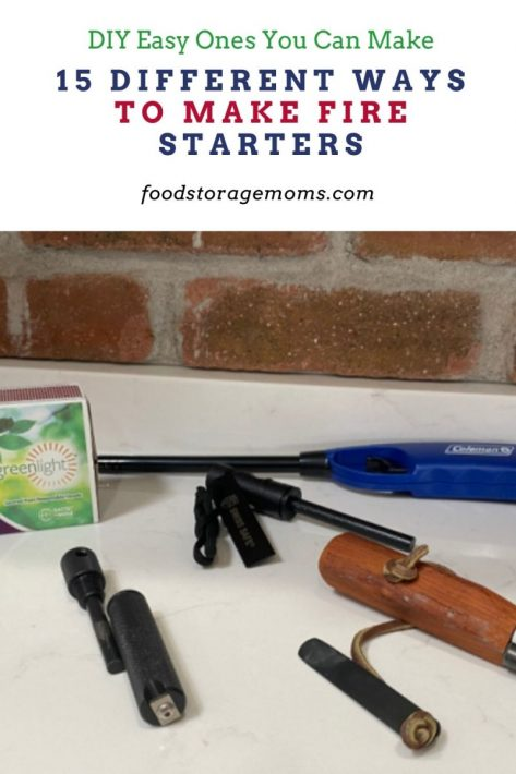 15 Different Ways to Make Fire Starters