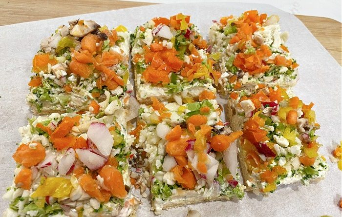 Vegetable Pizza for Parties