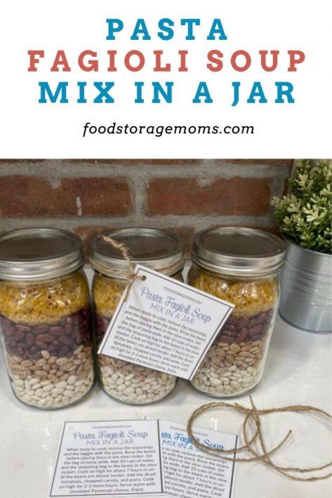 Pasta Fagioli Soup Mix in a Jar