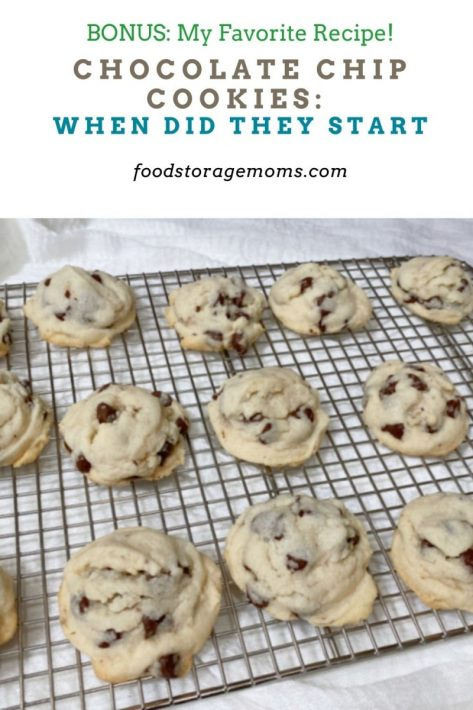Chocolate Chip Cookies: When Did They Star