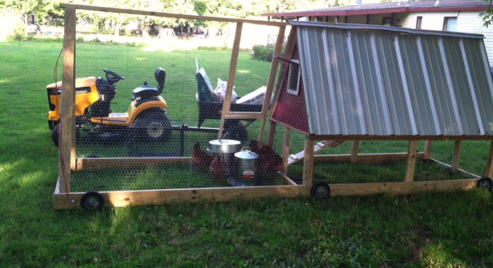 Matts Chicken Tractor Coop