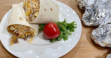 Breakfast Burritos in Foil