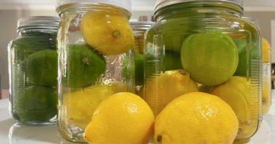 Jars with lemons and limes